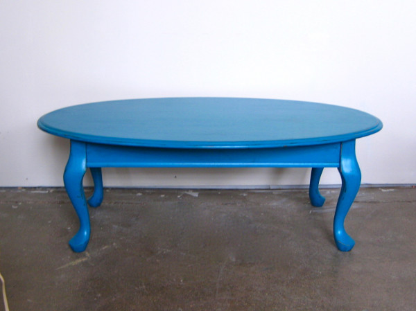 Antibes teal coffee table sold the savoy fleathe savoy for Teal coffee table