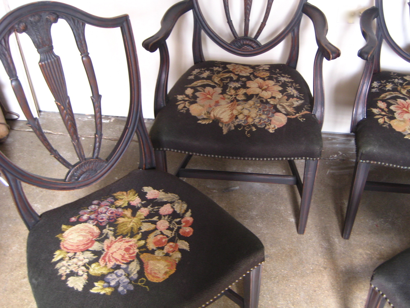 1940 S Hepplewhite Needlepoint Dining Chairs The Savoy Flea