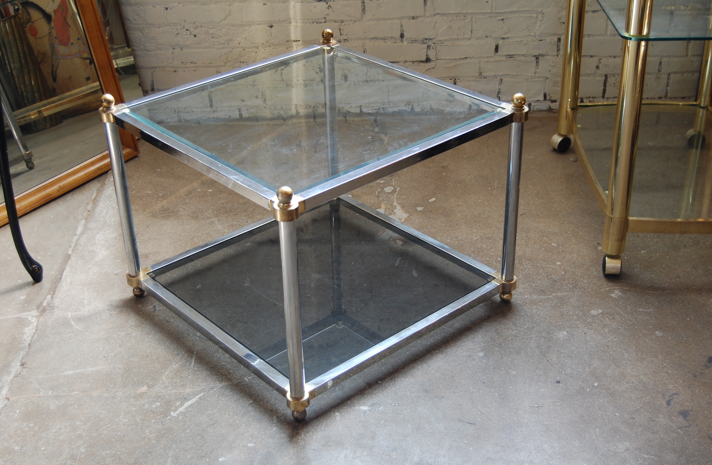 Vintage Chrome Amp Glass Coffee Or Side Table The Savoy Flea