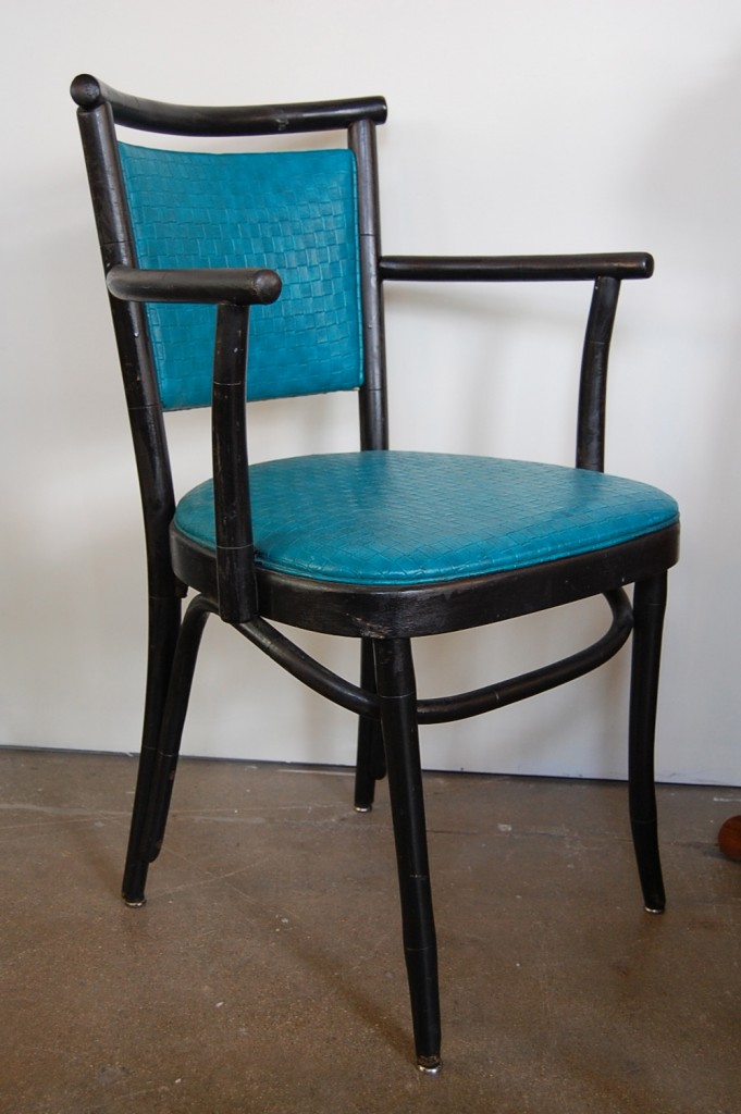 Mid Century Bentwood Turquoise Chairs Set Of 5 The