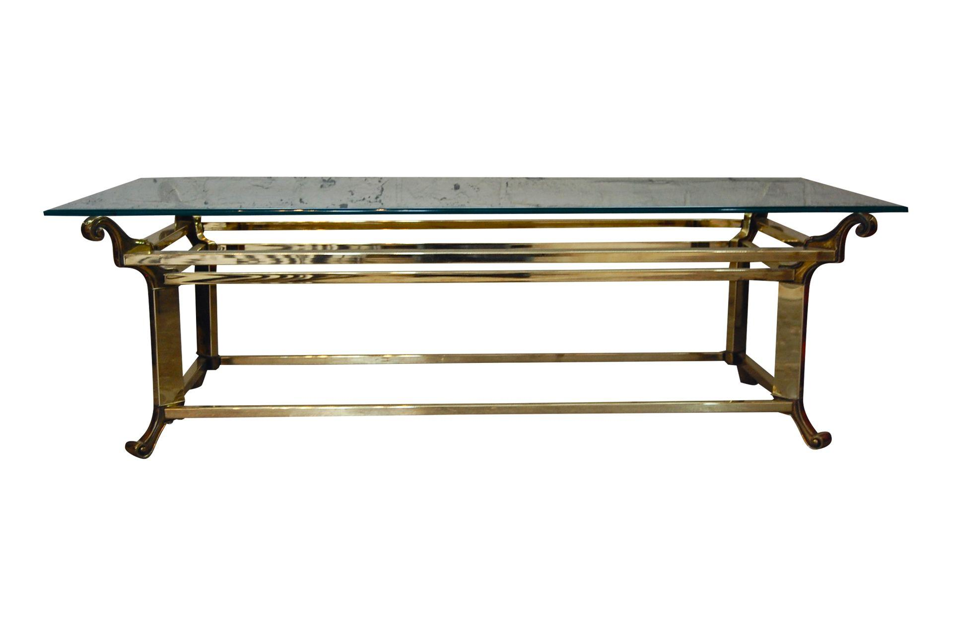Neoclassical Brass Scroll Coffee Table The Savoy Flea