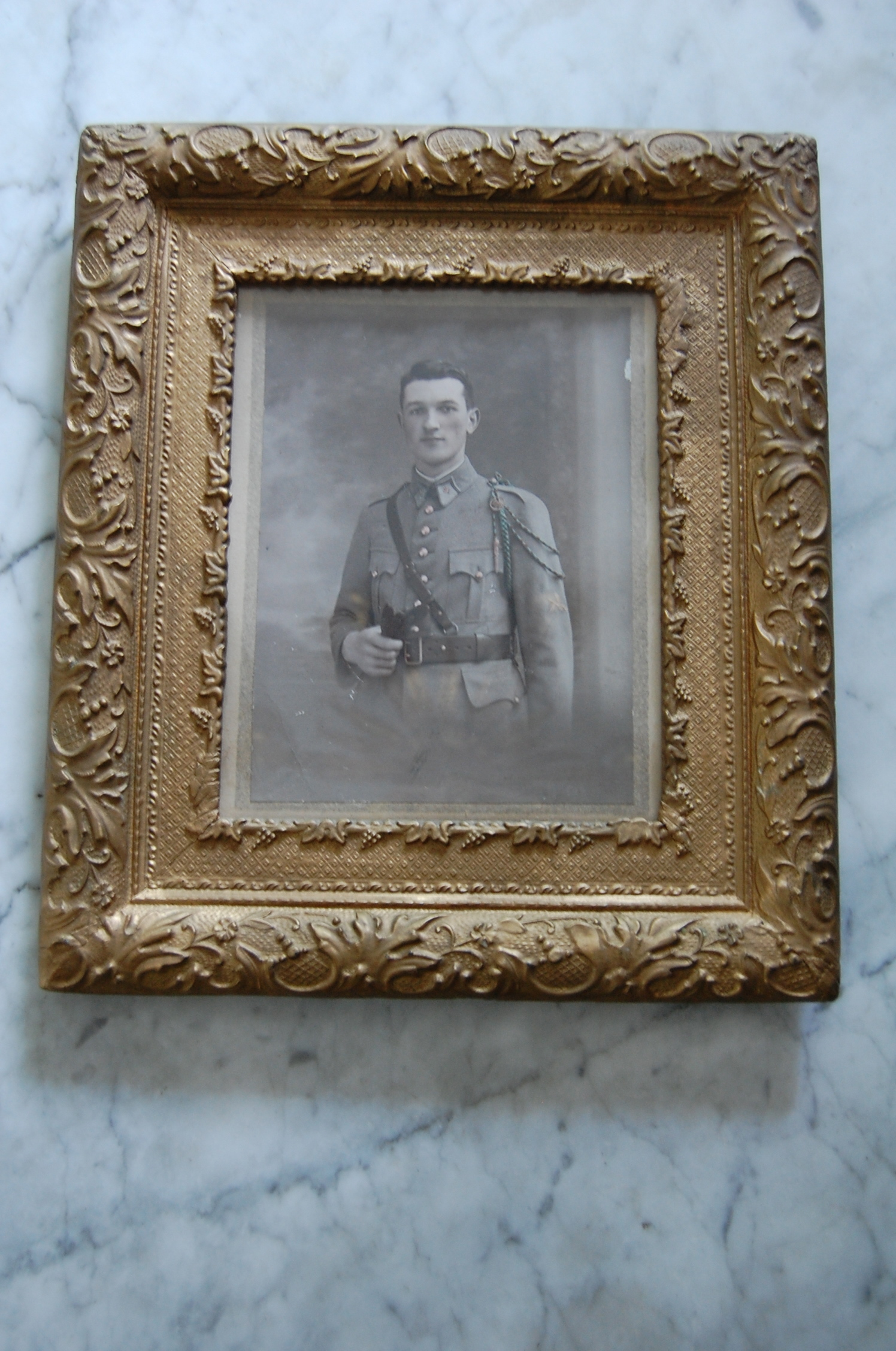 French Antique Ww1 Soldier Photo Amp Gilt Frame The Savoy Flea