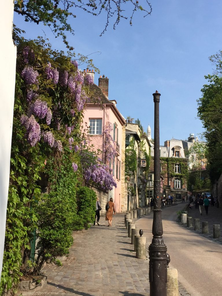 Under the wisteria in Montmartre