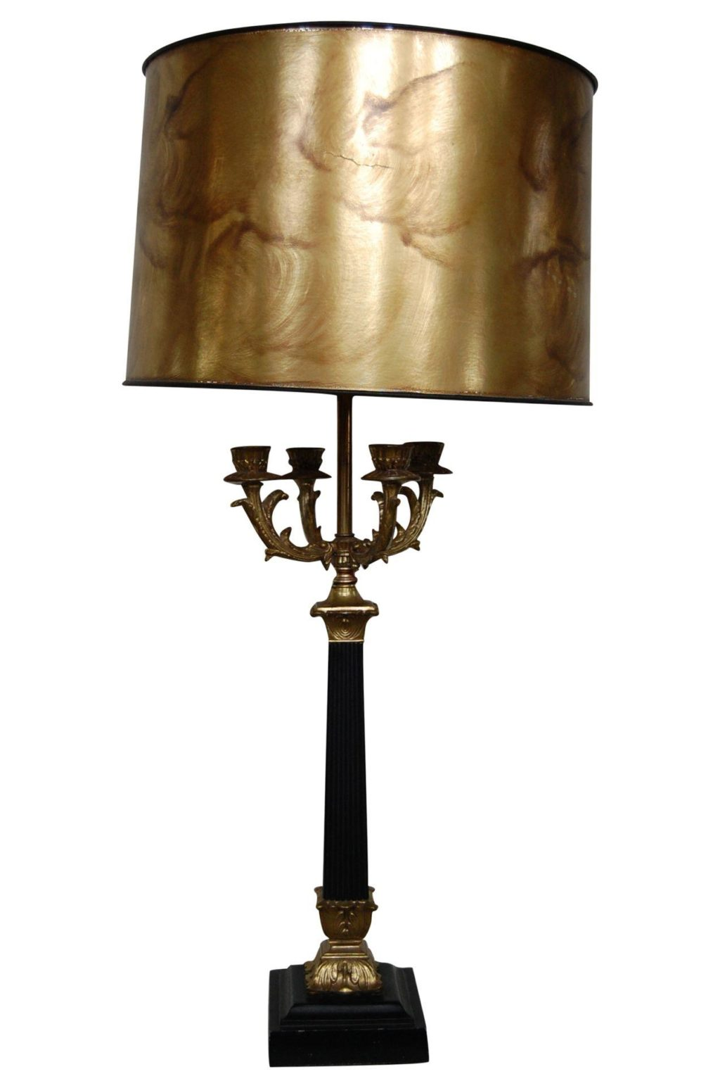 Tall Black Amp Gold Neoclassical Candelabra Lamp The Savoy