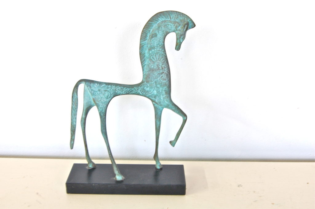 Vintage Etruscan Bronze Horse By Simoncini The Savoy Flea