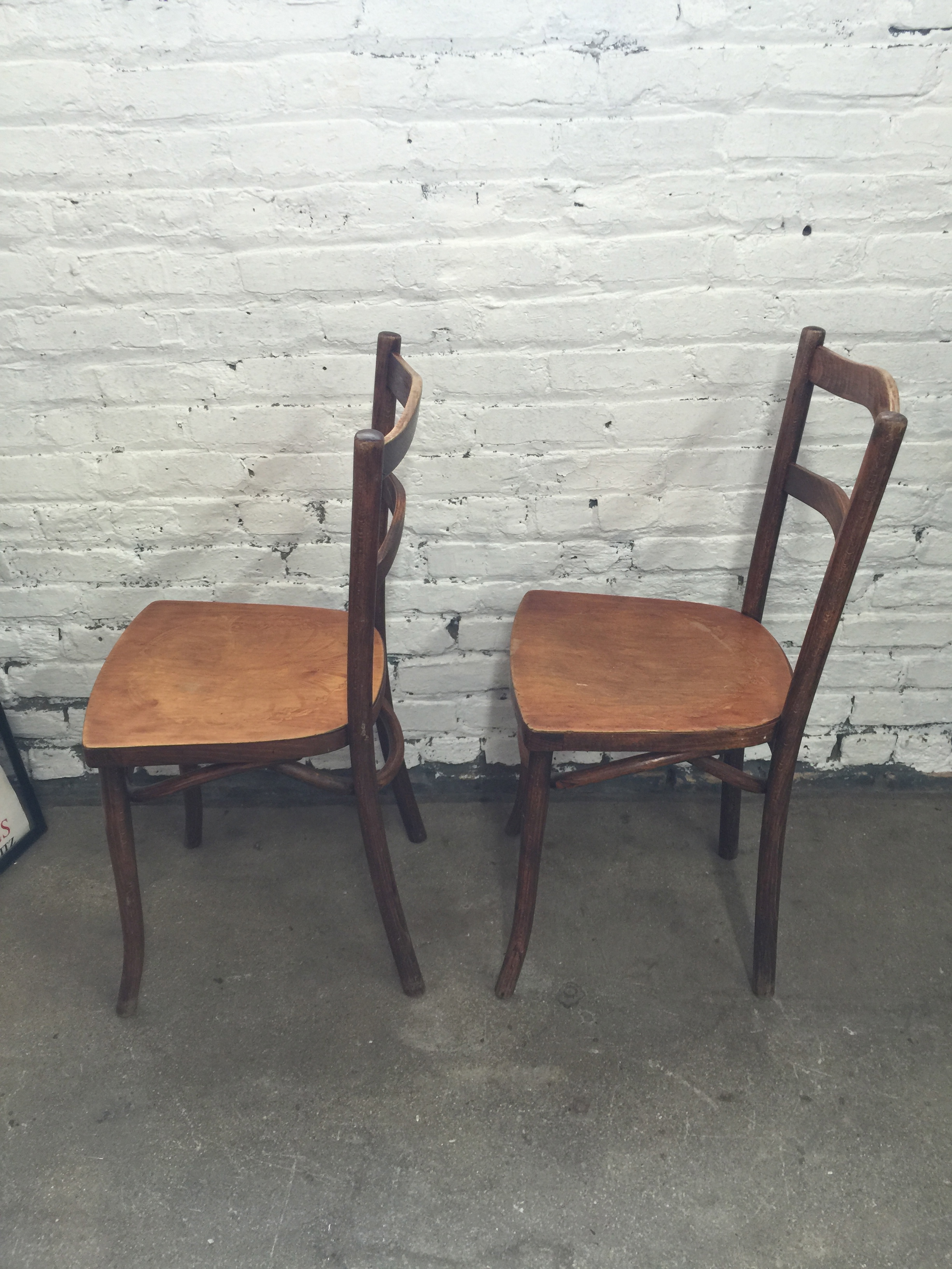 1920 S Estonian Bentwood Bistro Chairs By Luterma Pair