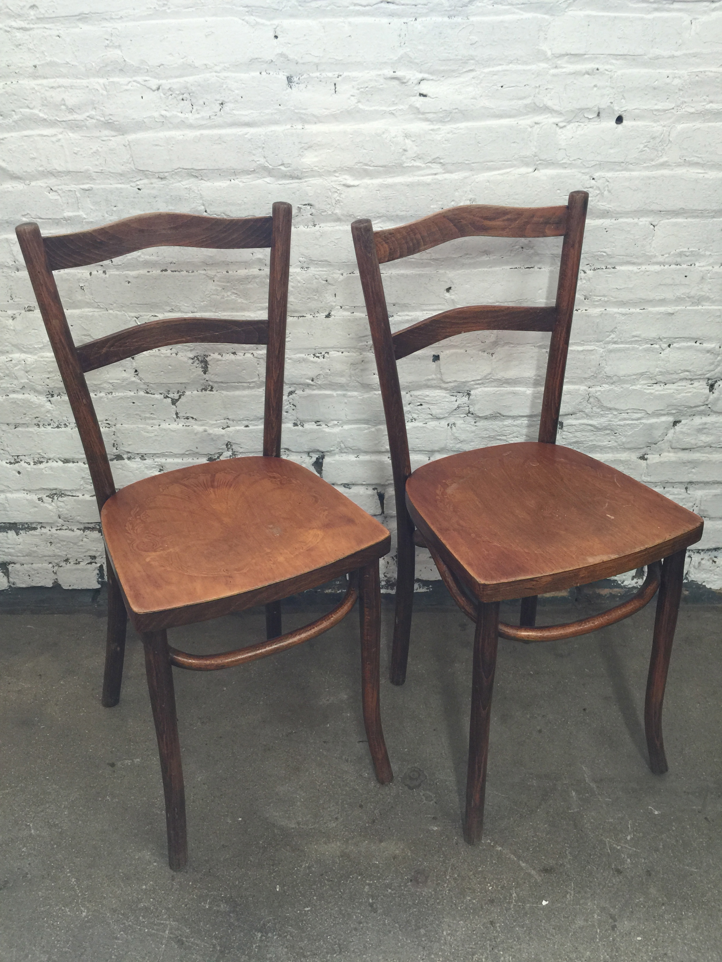1920u0027s Estonian Bentwood Bistro Chairs By Luterma ~ Pair | The Savoy Flea