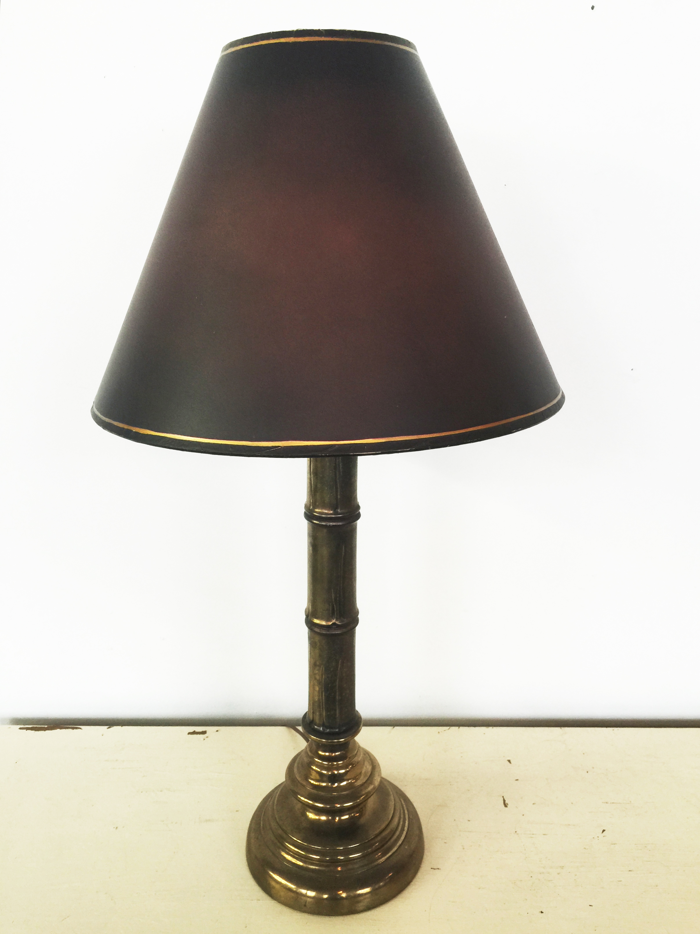 Vintage Brass Bamboo Lamp The Savoy Flea