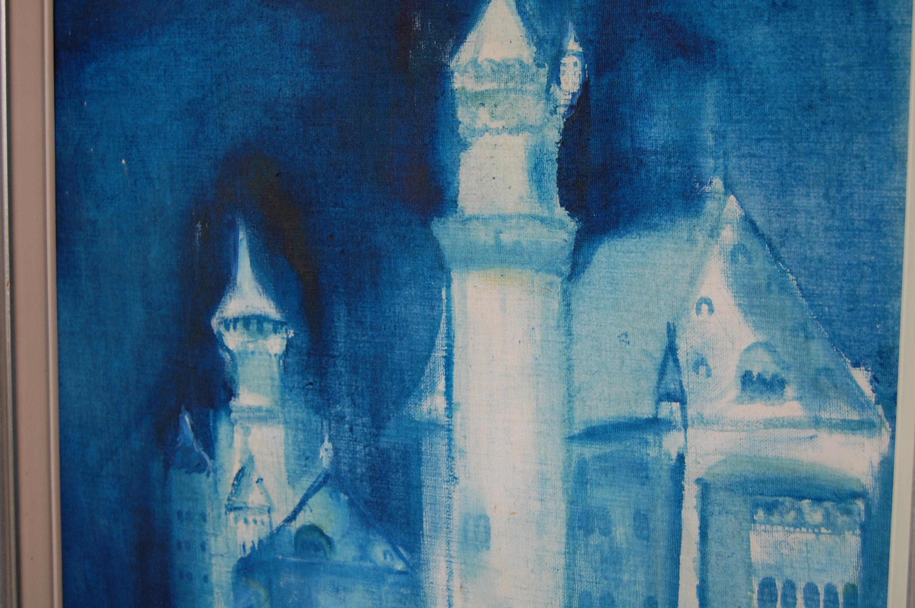 Mysterious Blue Castle Painting The Savoy Flea