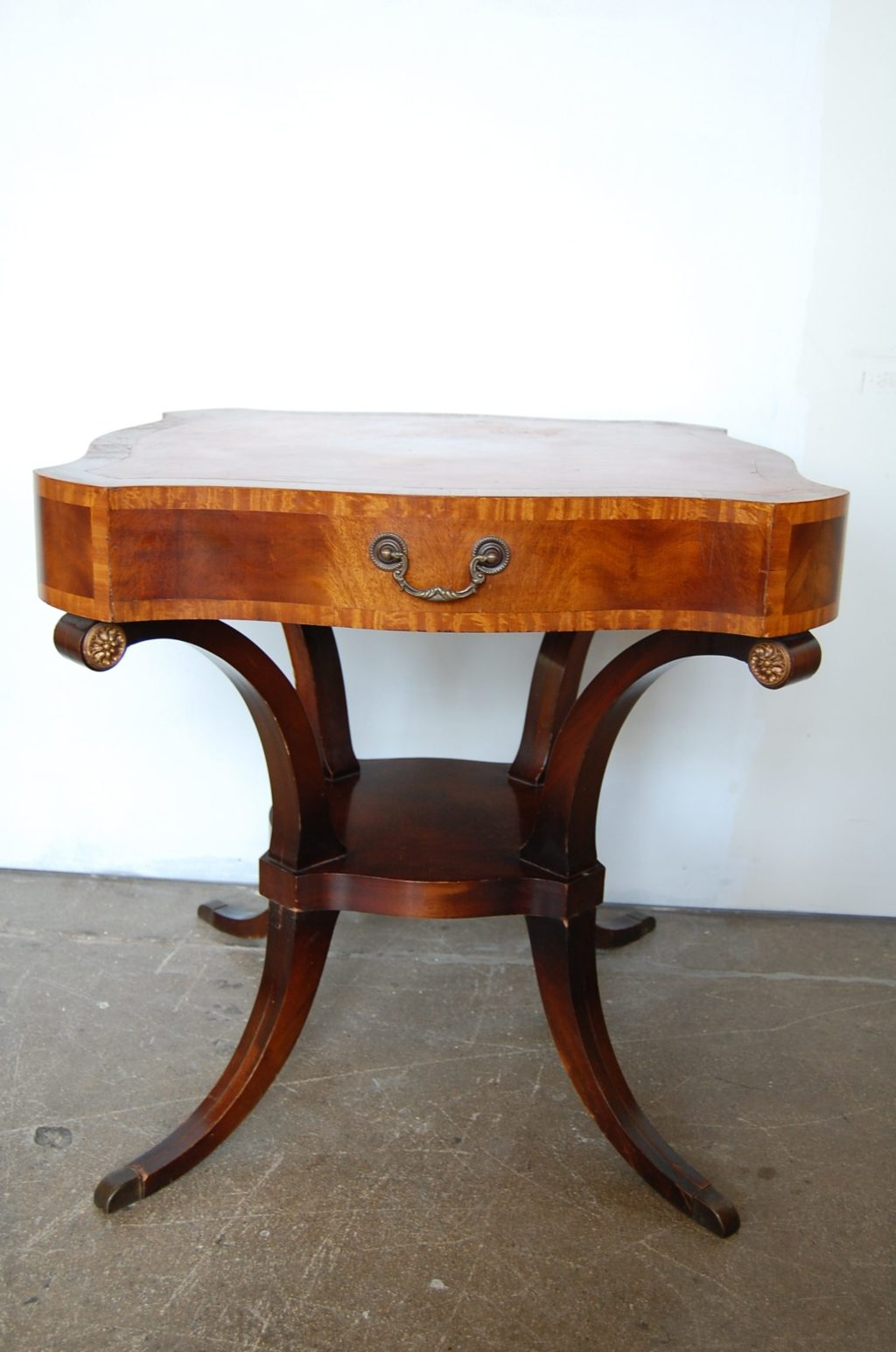 Neoclassical Regency Leather Top Table The Savoy Flea