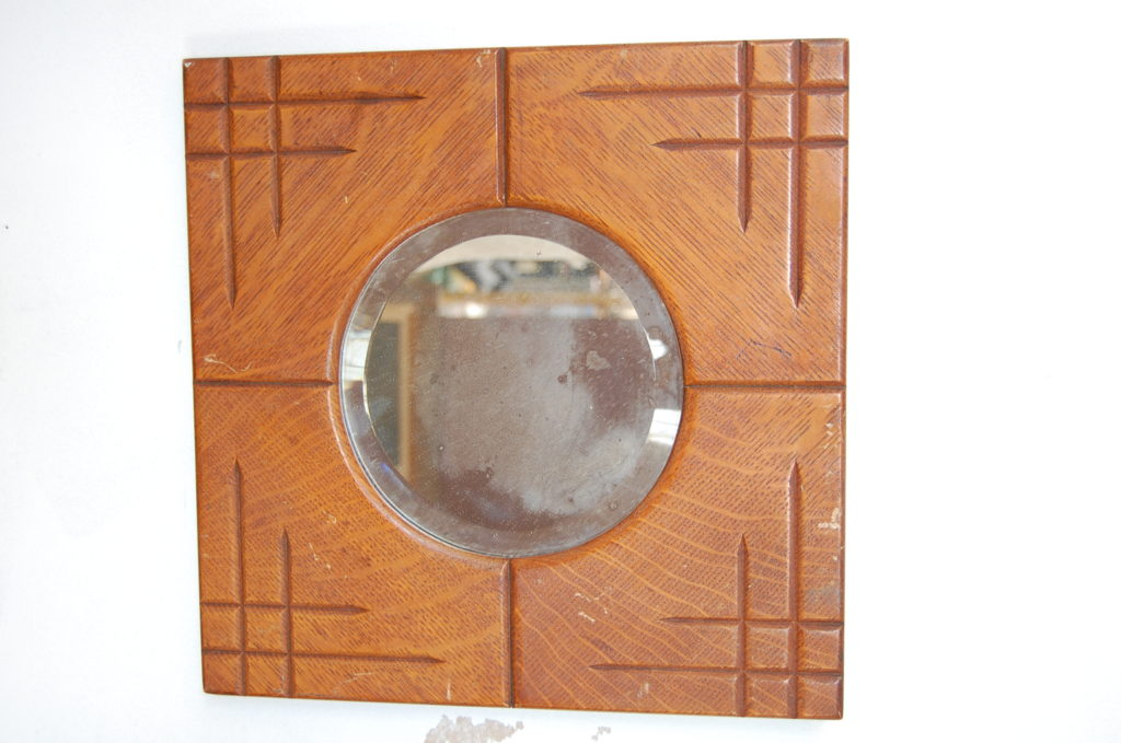 1920 S Wood Shaving Wall Mirror The Savoy Flea