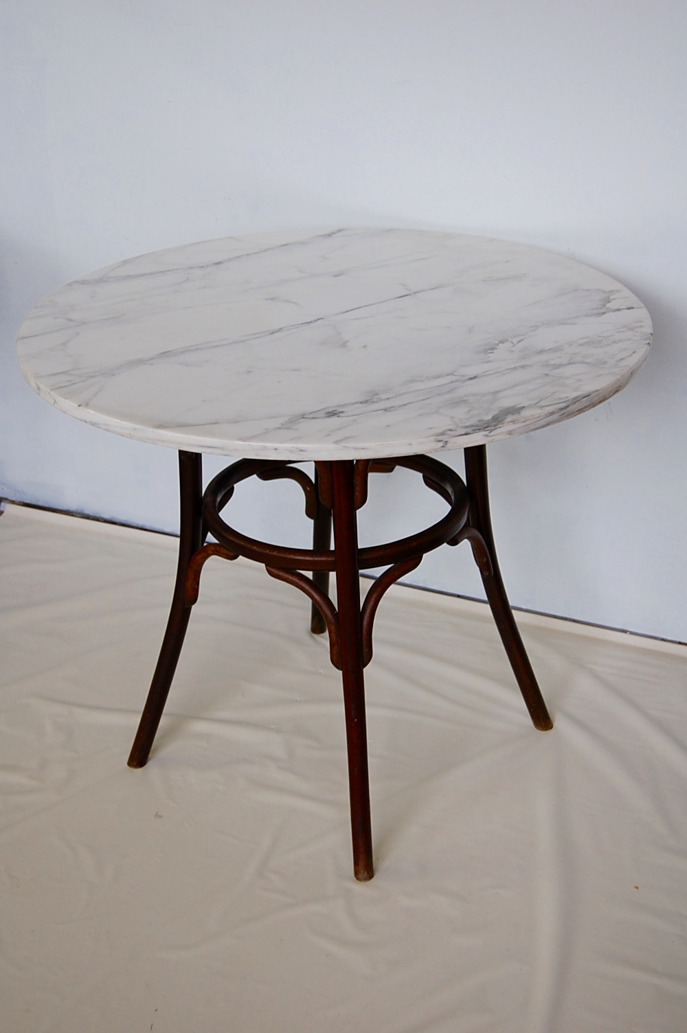 Vintage Marble Amp Bentwood Bistro Dining Table The Savoy Flea