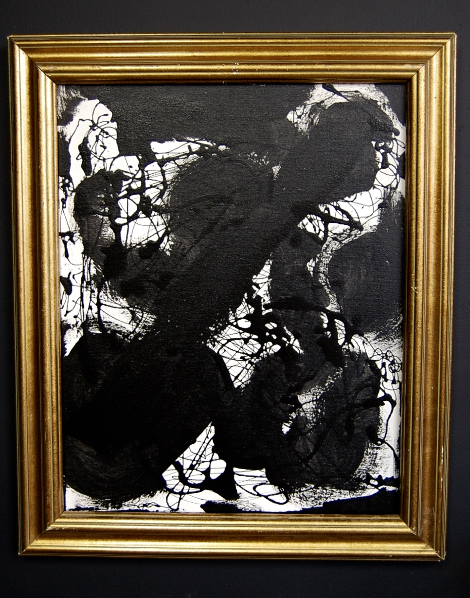 Framed Black Amp White Abstract Painting The Savoy Flea